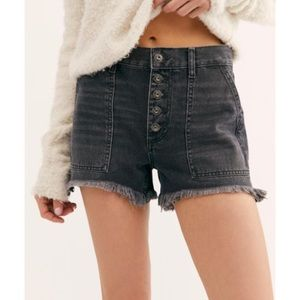 Free People Button Fly Fringed Shorts 27